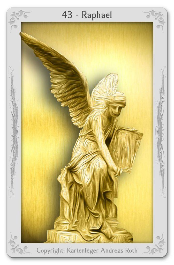 engelkarte engeltarot engel 43 raphael