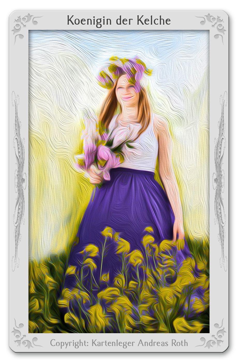 Tarotkarte Königin der Kelche: Bedeutung, Kombinationen, Deutung